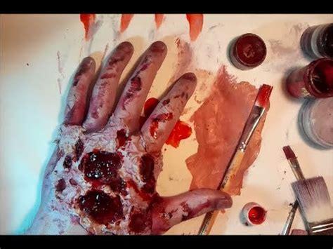 zombie flesh tutorial zombie makeup tutorial latex rotting flesh hands