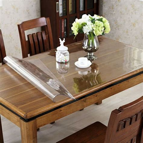 Save 25%!   OstepDecor Custom Waterproof PVC Protector for Table/Desk Table Pads Table Covers
