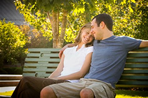 couple on park bench create intimacy through vulnerability
