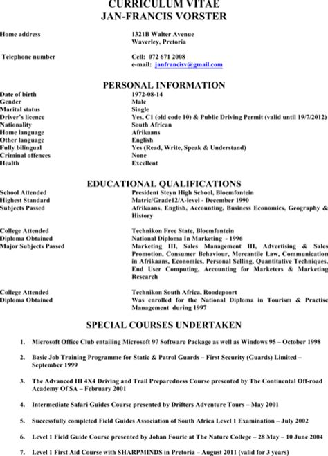 Resume Templates Zoo 5 Zookeeper Resume Templates For Excel Pdf And Word