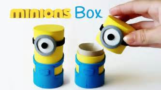 Diy crafts minions box from cardboard tube innova crafts youtube