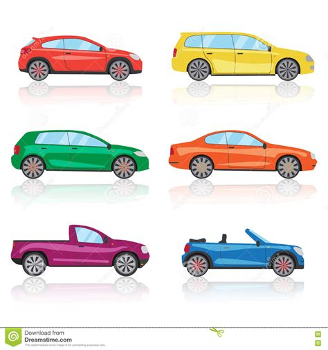 3d illustration his car floating cars icons set 6 different colorful 3d sports car icon
