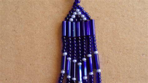 beaded fringe earrings tutorial how to make bugle beaded fringe earrings diy style