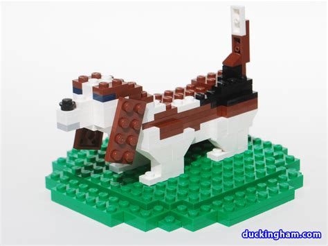 LEGO Basset Wedding Cake Topper   Duckingham Design