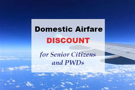 pal and cebupac give senior citizens and pwds discount for domestic flights para sa