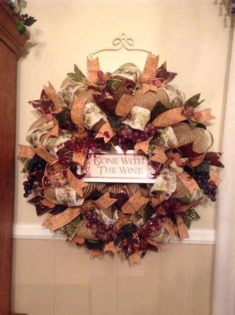 wine themed wreath i finally finished sold immediately at the bazaar deco mesh wreaths