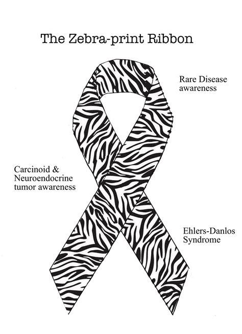 zebra pattern ribbon zebra ribbon rare disease awareness we get zebra pins
