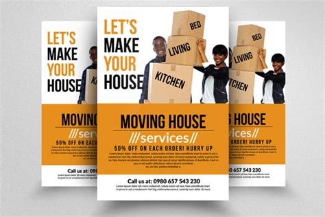 Janitorial Services Flyers 187 Designtube Creative Design Content Moving Company Flyer Template