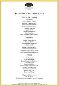afternoon tea new english afternoon tea menus
