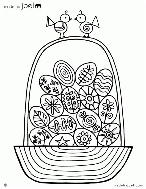 coloring page of empty easter basket empty easter basket coloring page coloring home