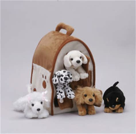 toy dog houses unipak design 12 dog house plush stuffed animal toy poodle lab puppy dog 7166do