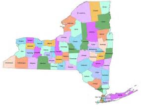 County Map Of New York State by New York State County Map