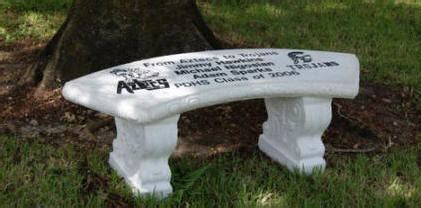 concrete memorial bench benches bricks r us