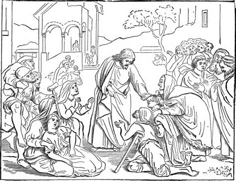 coloring page jesus healing sick coloring jesus heals the sick source