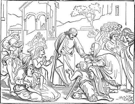 coloring jesus heals the sick source