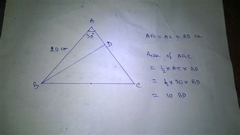How To Find The Geometry How To Find The Area Of The Following Isosceles Triangle Mathematics