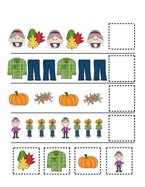 fall pattern worksheets for kindergarten fall autumn worksheets pattern cool 171 funnycrafts