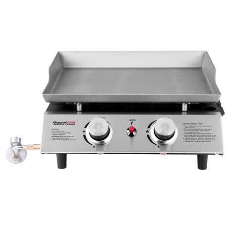 table top gas griddle royal gourmet 18in table top 2 burner propane gas grill