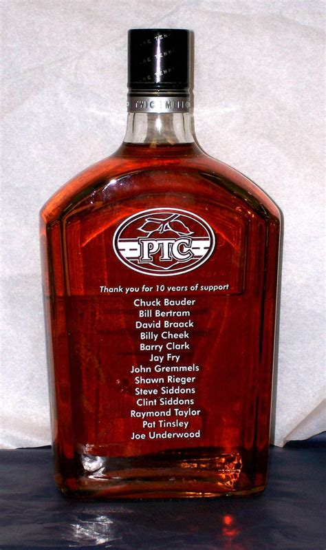 personalized engraved liquor bottle crystal images inc