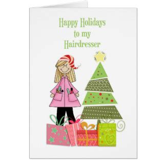 christmas for hairdresser cards zazzle