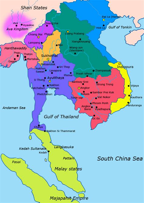 map of south east asia file map of southeast asia 1400 ce png