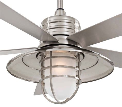 minka aire rainman ceiling fan minka aire 54 inch brushed nickel rainman ceiling fan