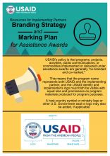 Infographic Branding Strategy And Marking Plan For Assistance Awards Resources For Usaid Branding And Marking Template
