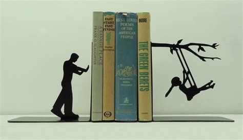 ends books creative metal bookends to add attention to your