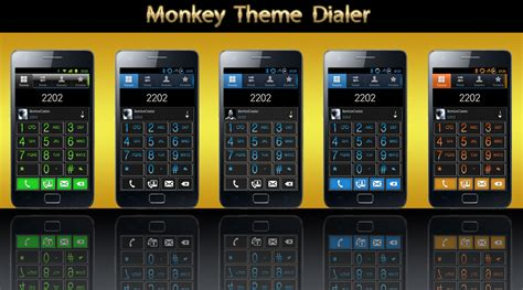 themes xposed monkey theme universal dialer collection for samsung