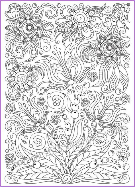doodle 4 print out sheets coloring page pdf printable doodle flowers by zentanglehouse