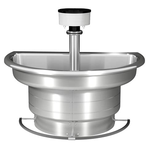 automatic wash sink stainless steel semi circular washfountain