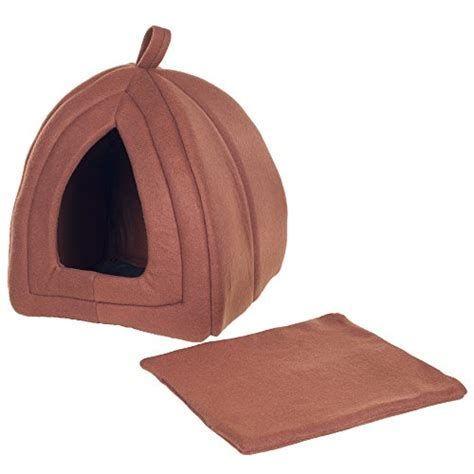 enclosed cat bed petmaker cozy kitty tent igloo plush enclosed cat bed