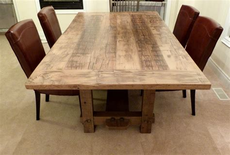 reclaimed dining room table amazing solid wood dining room table modern tables
