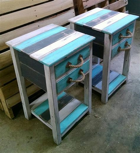 Side Tables With Drawers by Pallet End Tables With Drawers Recycled Things