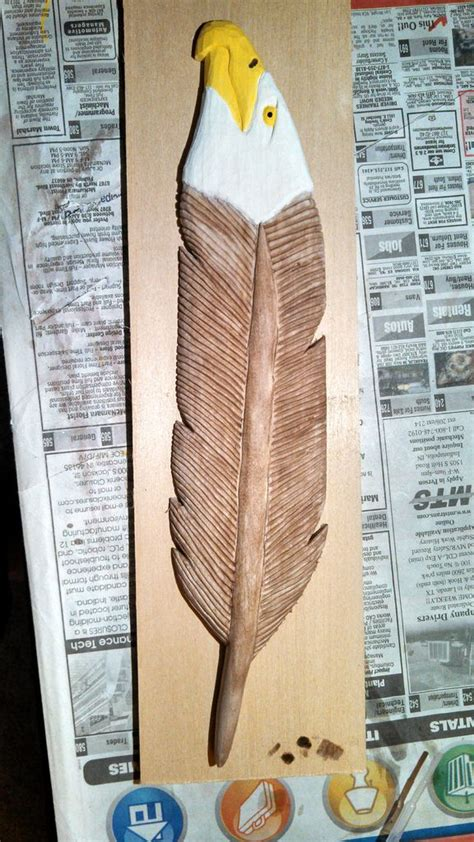 carving  eagle feather  steps  pictures