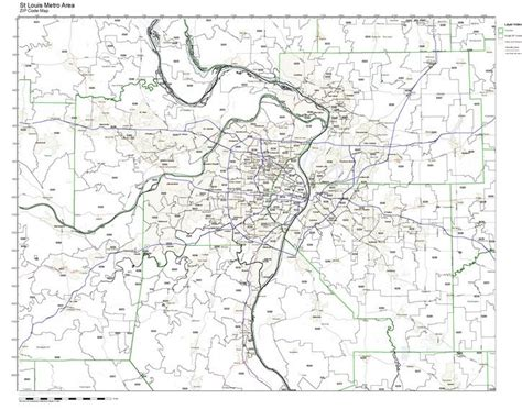 st louis zip code map workingmaps zip code maps