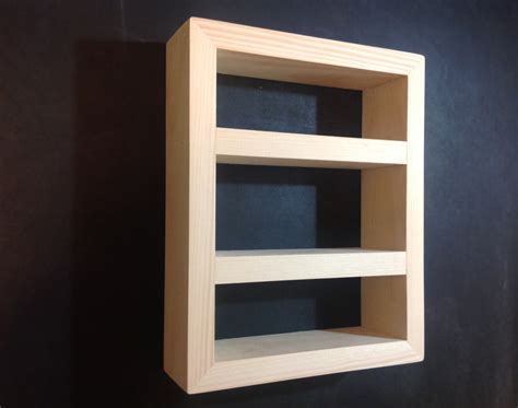 wooden shadow box shelf hanging or free standing small or