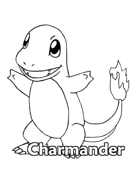 Pokemon Charmander Coloring Page Printables Pinterest Coloring Pages Charmander