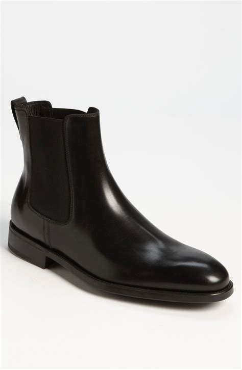 ferragamo arden chelsea boot in black for lyst