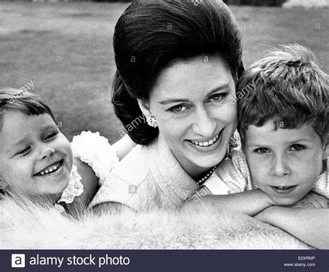 Pictures Of Princess Margaret portrait of princess margaret and her children stock photo