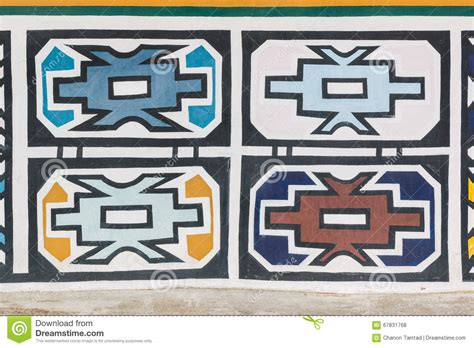 ndebele pattern vector traditional african ndebele patterns on the wall stock