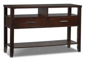 Espresso Sofa Table Gloria Sofa Table Espresso Leon S
