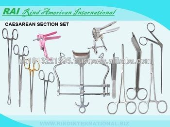c section surgical instruments cesarean section instrument kit cesarean instrument kit