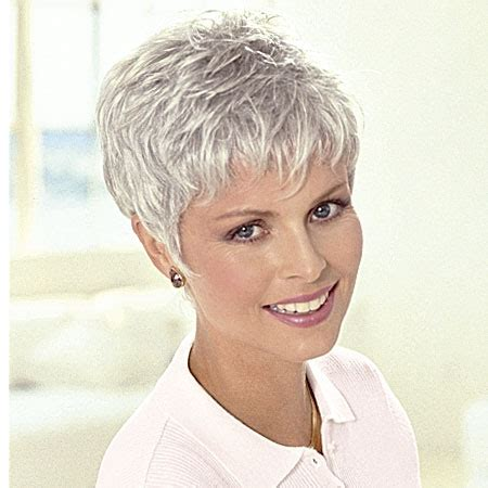 hairstyle for gray thin wavy hair patients wigs short wigs monofilament wigs wigs for