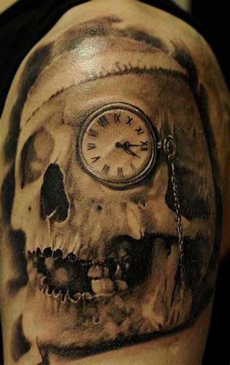 61 stunning clock shoulder tattoos