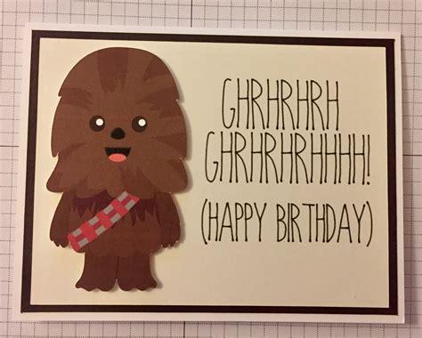 Chewbacca Birthday Card Disney Star Wars Chewbacca Birthday Card