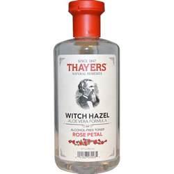 thayers witch hazel aloe vera formula alcohol free toner rose petal 12 fl oz 355 ml