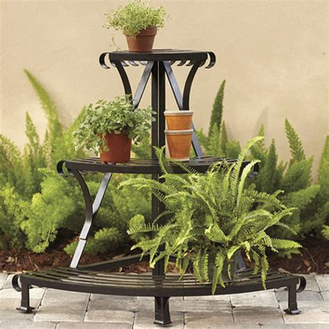 Outdoor Standing Clock With Planter by Flora Corner Plant Stand Traditional Outdoor Pots And