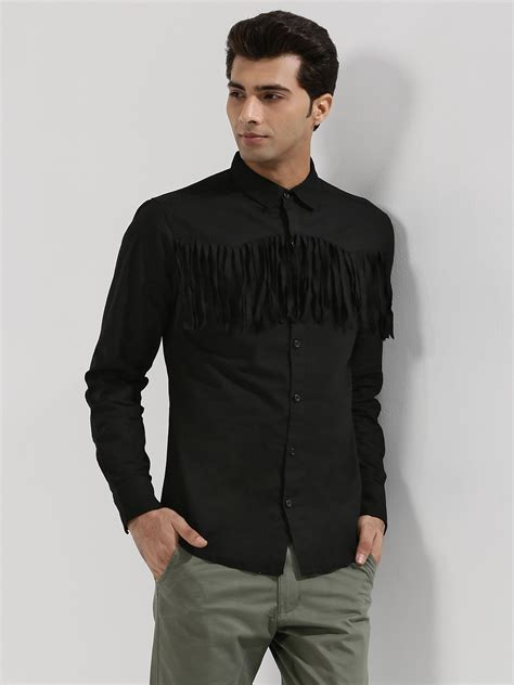 Fringes Shirt buy noble faith western fringe shirt for s black casual shirts in india