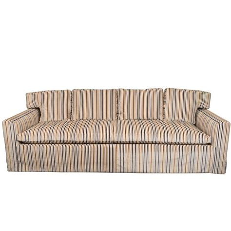 striped velvet sofa midcentury down sofa in striped cut velvet for sale at 1stdibs